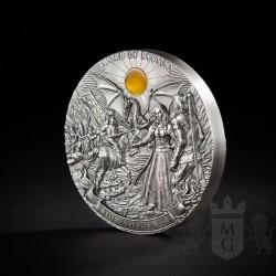 moneta kolekcjonerska 50$ wiedźmin miecz przeznaczenia awers