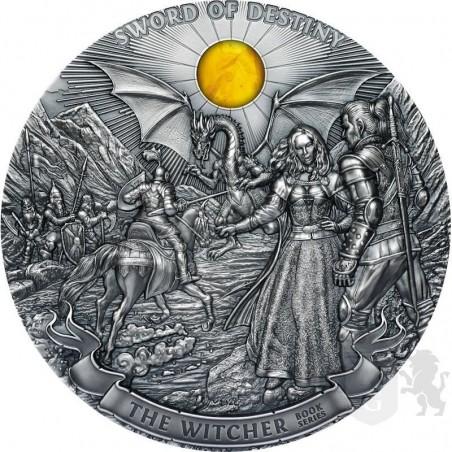 moneta kolekcjonerska 50$ wiedźmin miecz przeznaczenia