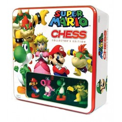 Szachy w metalowym pudełku box 3D - Super Mario